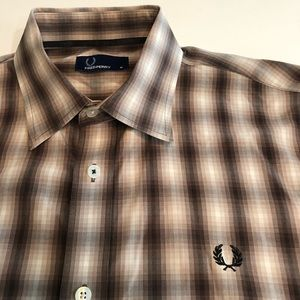Fred Perry Dress Shirt - Pixelated Stripes